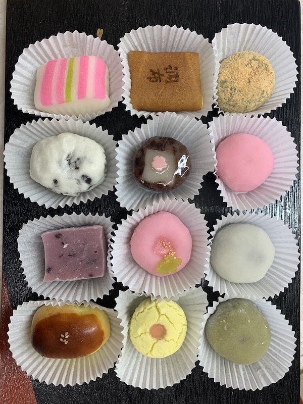 Wagashi 12 Piece* - A true treat for everyone whether you like the various soft centers of bean pastes (An) or outer textures.